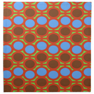 Earthy Brown and Blue Bubble Eyelets Napkin