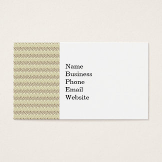 Earthy Brown and Linen Leaf Pattern Business Card