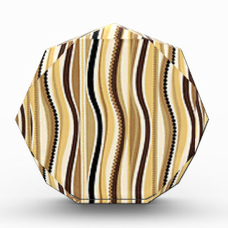 Earthy Brown Beaded Stripes Award