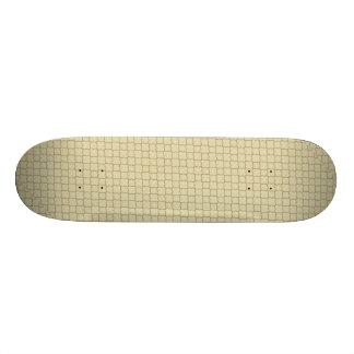 Earthy Brown Quatrefoil on Gold Skate Board Deck