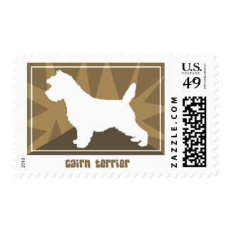 Earthy Cairn Terrier Postage Stamps