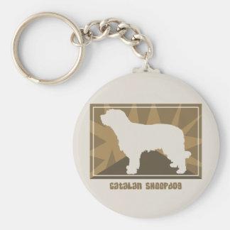 Earthy Catalan Sheepdog Keychain
