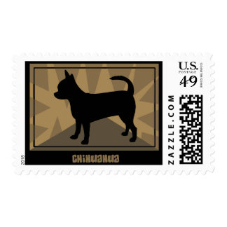Earthy Chihuahua Postage Stamps