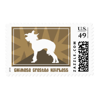 Earthy Chinese Crested Postage Stamps