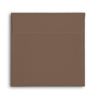 Earthy Cocoa Brown, Leafy Neutral Envelope