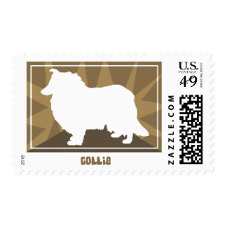 Earthy Collie Postage Stamps