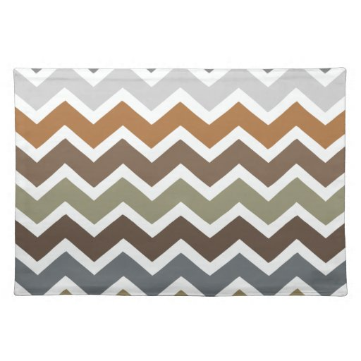 Earthy Colored Chevrons Cloth Placemat