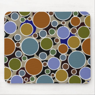 Earthy colored circles background mouse pads