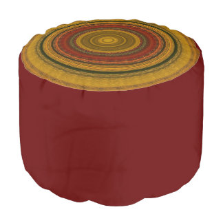 Earthy colors Round Pouf