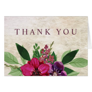 Earthy, Cranberry-Plum Thank You Cards