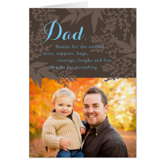 Earthy Custom Photo Father's Day Card
