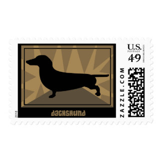 Earthy Dachshund Postage Stamps