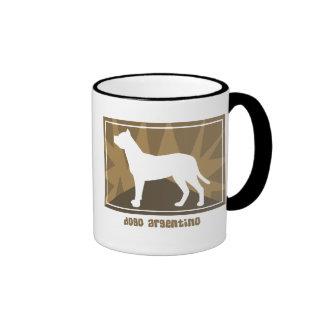 Earthy Dogo Argentino Ringer Coffee Mug