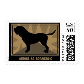 Earthy Dogue de Bordeaux Postage Stamps