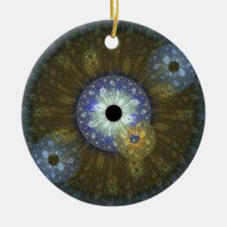 Earthy Fractal Circular Ornament