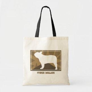 Earthy French Bulldog Canvas Bags
