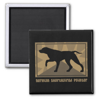 Earthy German Shorthaired Pointer Magnet