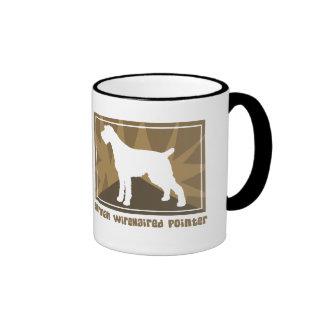 Earthy German Wirehaired Pointer Coffee Mug
