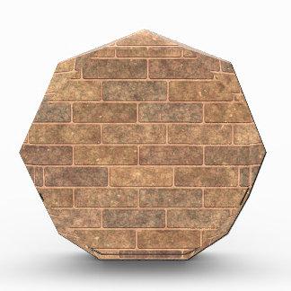 Earthy Gold Brick Acrylic Award