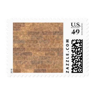 Earthy Gold Brick Stamp
