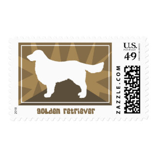 Earthy Golden Retriever Postage Stamps