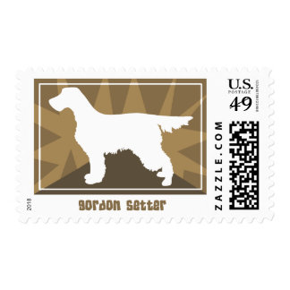 Earthy Gordon Setter Postage Stamps
