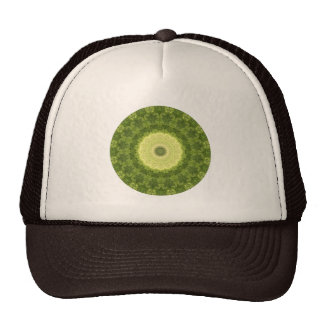 "Earthy Green and Yellow-Green ""Evergreen"" Trucker Hat"