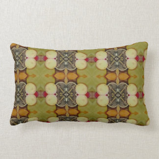 Earthy Green patterned pilow Lumbar Pillow