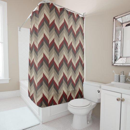 Earthy Herringbone Shower Curtain