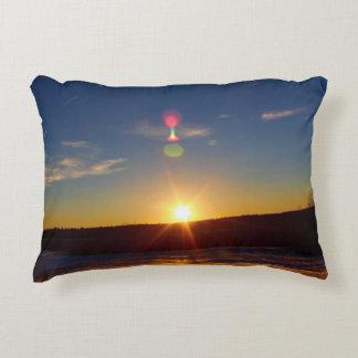 Earthy Horizon Hues Decorative Pillow