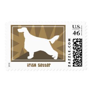 Earthy Irish Setter Postage Stamps