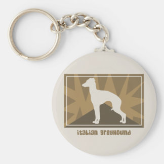 Earthy Italian Greyhound Basic Round Button Keychain