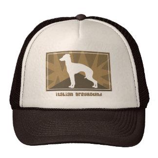 Earthy Italian Greyhound Mesh Hats