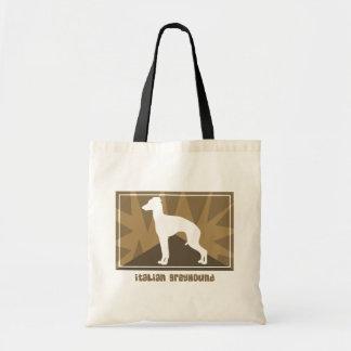 Earthy Italian Greyhound Tote Bags