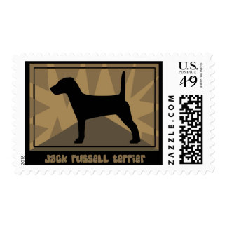 Earthy Jack Russell Terrier Postage Stamps