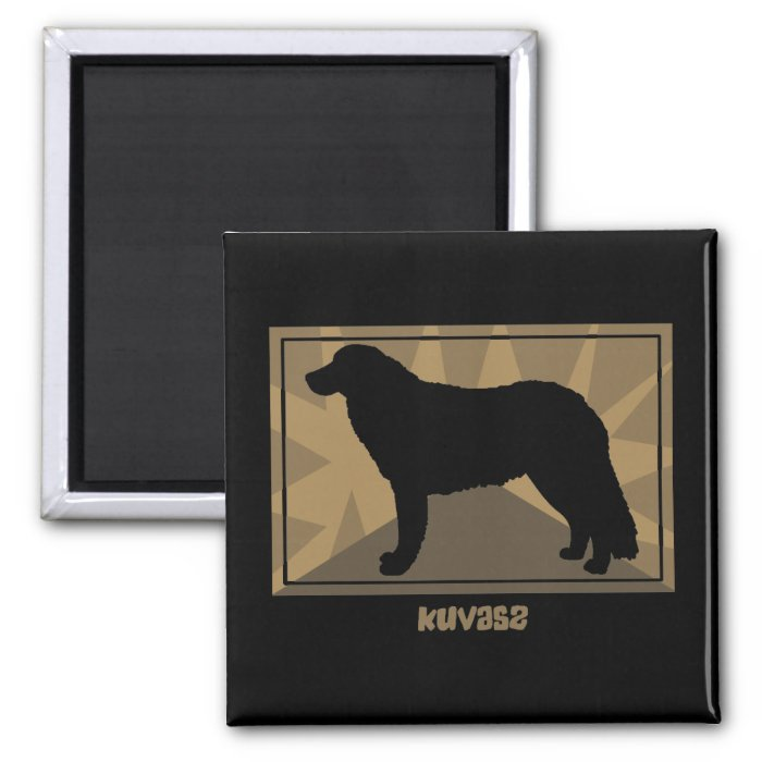 Earthy Kuvasz 2 Inch Square Magnet