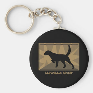 Earthy Llewellin Setter Basic Round Button Keychain