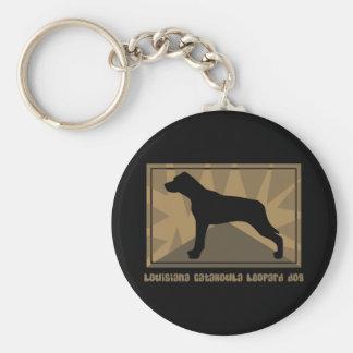 Earthy Louisiana Catahoula Leopard Dog Keychain