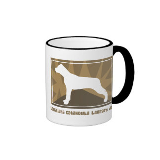 Earthy Louisiana Catahoula Leopard Dog Ringer Coffee Mug