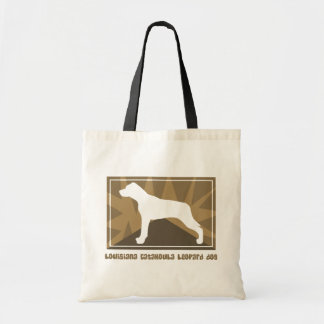 Earthy Louisiana Catahoula Leopard Dog Tote Bag