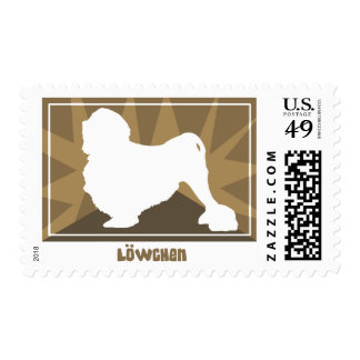 Earthy Lowchen Postage Stamps