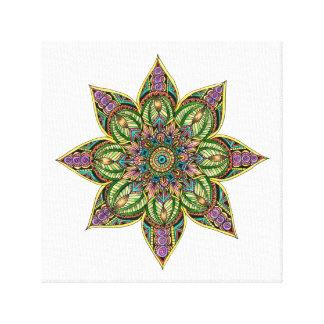 Earthy Mandala Design Canvas Print