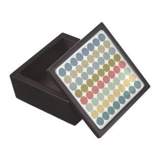 Earthy Mod Dot Stripes Premium Trinket Jewelry Box Premium Jewelry Box
