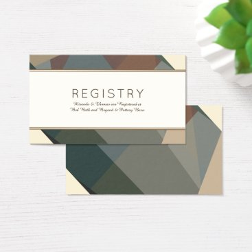Beach Themed Earthy, Modern Abstract Registration Cards
