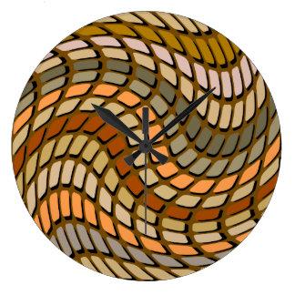 Earthy Mosiac Tiles Wall Clock