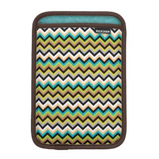 Earthy Multicolor Chevron Pattern iPad Mini Sleeve