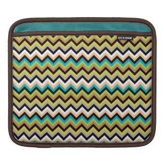 Earthy Multicolor Chevron Pattern Sleeve For iPads