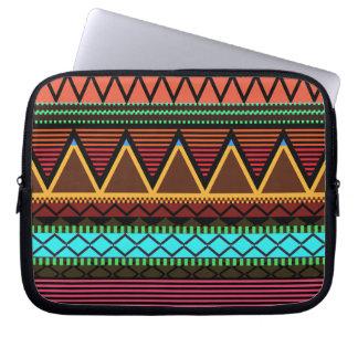 Earthy Neon Modern Tribal Laptop Sleeve
