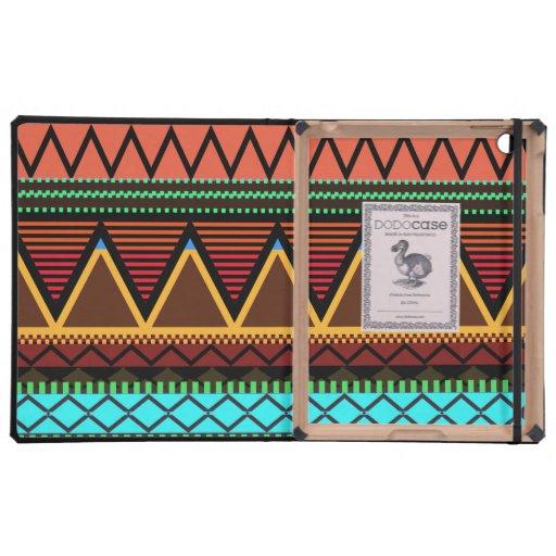 Earthy Neon Tribal iPad Covers