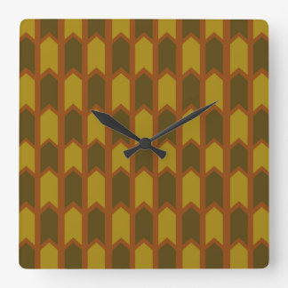 Earthy Panel Fence Square Wall Clock